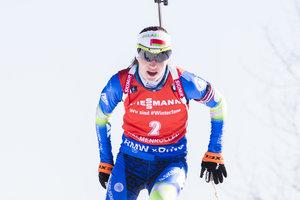 Дар'я Домрачева виграла спринт на останньому етапі Кубка світу з біатлону